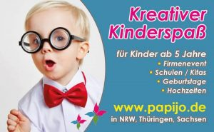 Kindergeburtstag mit dem Kreativhaus papijo mobil in Dresden und Umgebung