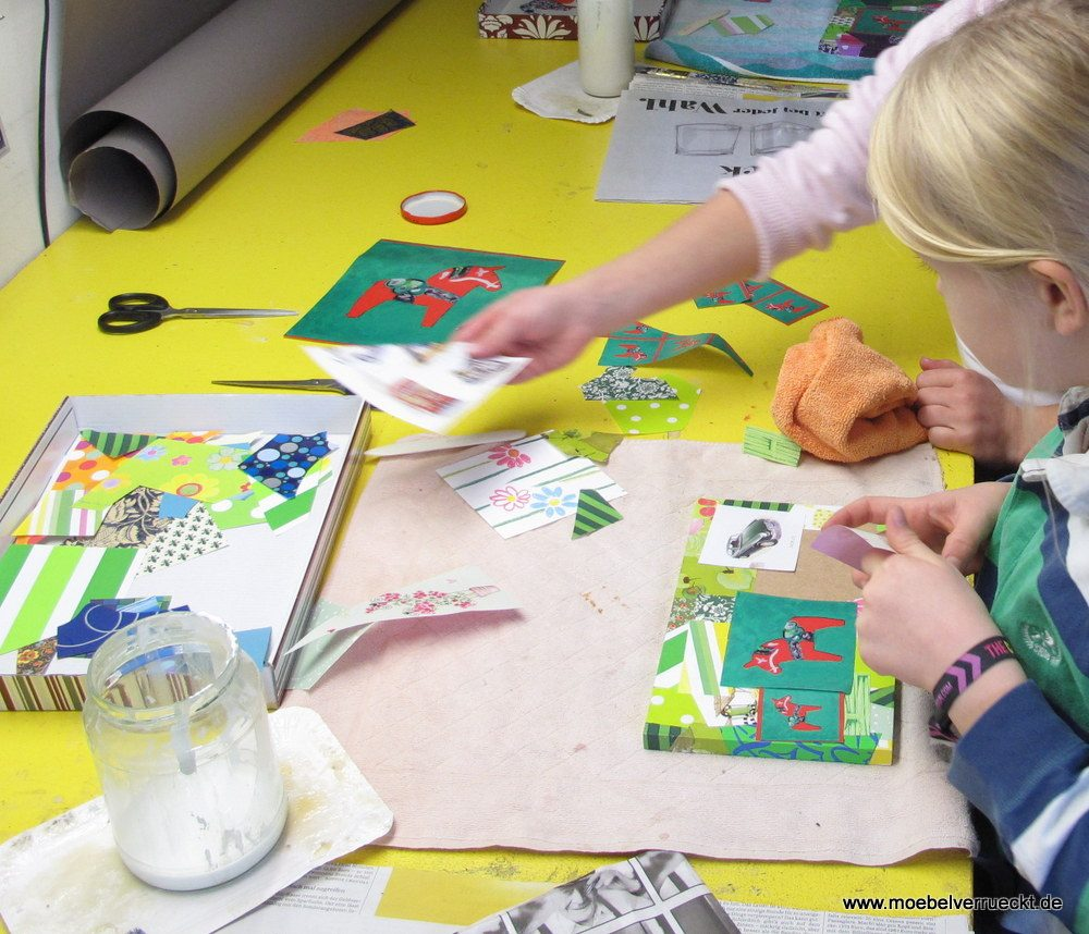 Kreativer Kindergeburtstag | Upcycling mit Papier bei MöbelVerrückt