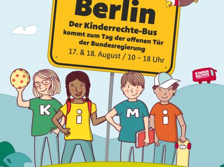 Kinderrechte-Bus beim Tag Der Offenen Tür der Bundesregierung