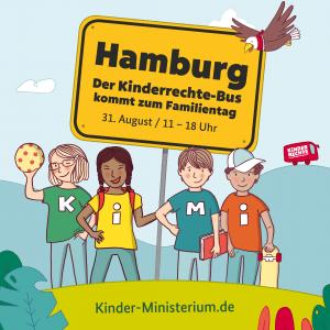 Kinderrechte-Bus beim 16. Hamburger Familientag
