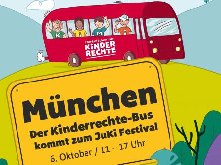 Der Kinderrechte-Bus beim JuKi Festival