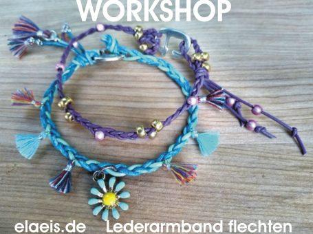 Workshop /Ferienprogramm Lederarmband flechten