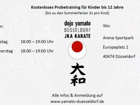Kostenloses Karate Kinder Probetraining